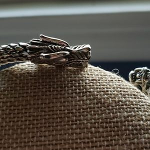 Other - Dragon Solid sterling silver cuff